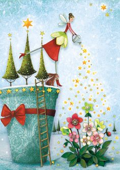 X-MAS SALE! Christmas card (folded) by Mila Marquis *Minimum order value 10 Euro*