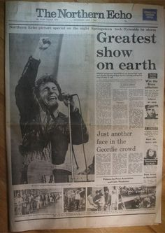 I found this Springsteen Newspaper Clipping from 1985. Review of 4th June St James Park Newcastle. Two Great shows