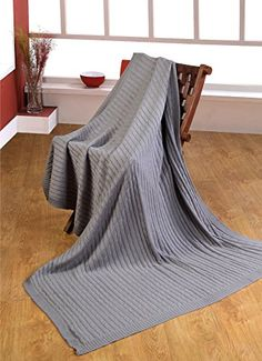 Homescapes - Cable Knit - Throw - Grey - 100% Cotton - 130 x 170 cm - Washable Sofa Throw or Bed Blanket Homescapes http://www.amazon.co.uk/dp/B00NB08F1M/ref=cm_sw_r_pi_dp_m4pyub10QP6NT
