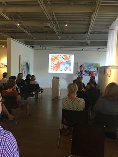 Artist talk given last night at Wall Space Gallery in #Westboro (#Ottawa) by abstract #artist Claire Desjardins. #clairedesjardins