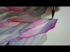 Watercolor painting - chrysanthemum.wmv - YouTube