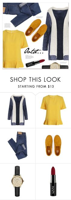 """""""Ootd..."""" by mycherryblossom ❤ liked on Polyvore featuring Cheap Monday, Burberry and NYX"""
