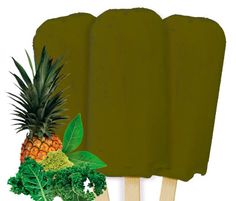 All Natural Ice Pop Green Passion flavor containing green tea spinach and kale super foods.  Learn more at www.icecreamprivatelabel.com