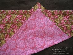 Self Binding receiving blanket tutorial I think this would be a good project for Elizabeth to try and I'd help her with mitered corners. Quilting Tutorials, Sewing Tutorials, Sewing Patterns, Sewing Ideas, Free Tutorials, Quilting Ideas, Sewing Projects, Quilting Patterns, Diy Projects
