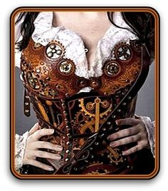 Leather corset. OMG! I want this!