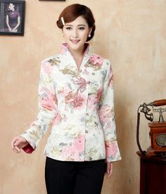 new Chinese Women's silk/satin embroidery jacket/Coat Sz:M- XXXL in Clothes, Shoes & Accessories | eBay
