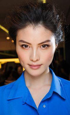 Sui He's natural makeup
