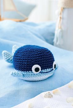 Crochet whale toy