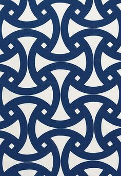 Santorini pattern in marine.  This would make a great quilting pattern