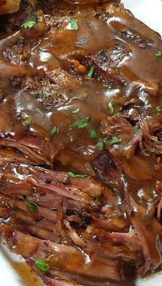 """Slow Cooker """"Melt in Your Mouth"""" Pot Roast  Ingredients : 1 chuck roast (mine was 3 pounds) Olive oil 1 pound carrots, peeled and cut into..."""