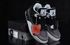Big Kids Jordan Shoes Kids Air Jordan 4 Fear Black Shoes [Kids Air Jordan 4 - This is certainly not going to deter the mass of enthusiasts who have been dying to see them back on shelves and the payoff for their patience is looking to be pretty sweet. Jordan Shoes For Kids, Jordan 4, Cheap Jordans, Kids Jordans, Grey Shoes, Cheap Shoes, Kid Shoes, Big Kids, Black And Grey