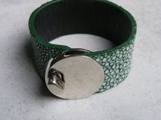 twistlock cuff bracelet with genuine green flat door MaisonDelclef