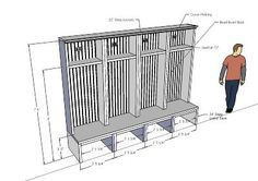 Mudroom Lockers - 3D Warehouse