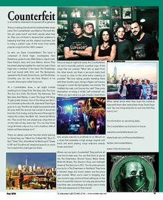 """The Counterfeiters Band by M. Buonauro. They are a New Jersey cover band that seeks the """"perfect"""" musical copy for every cover they perform."""