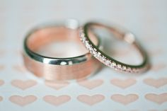 I love this simple rose gold band as a wedding ring to go with an engagement ring.