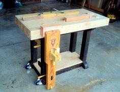 Short Block V8, a Small Beginner's Bench with Attitude - by shipwright @ LumberJocks.com ~ woodworking community