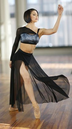 Hologram sequin mesh bra top and maxi skit - beautiful lyrical and contemporary costume