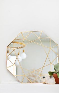Gem Mirror DIY (+ Easy Glass Cutting Technique!) | A Beautiful Mess | Bloglovin'