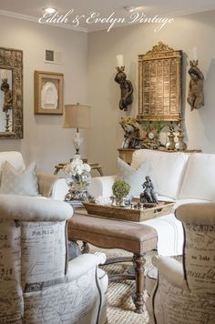 Transformation of the Family Room | Edith & Evelyn Vintage | www.edithandevelynvintage.com