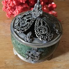 Antique dragon Buddha jade box Amazing for good luck marked Antique jade box Jewelry