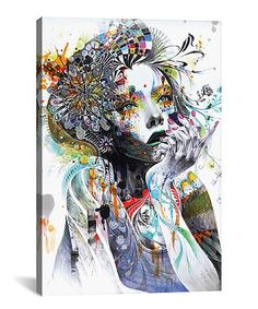 HD spray print 3 Piece canvas art abstract watercolor girl face flower hair Painting Wall Pictures for Living Room 3 Piece Canvas Art, Canvas Artwork, Canvas Art Prints, Buy Canvas, Canvas Poster, Print Poster, Wall Prints, Gustav Klimt, Oil Painting On Canvas