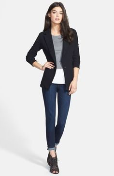 Free shipping and returns on James Perse Jacket, Hinge® Top & Paige Denim Skinny Jeans at Nordstrom.com.