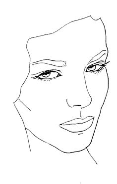 Face charts, vierge, blank, visage, portrait, base, essai, entrainement, chablon,blog bebeautifulbylolie lolie beauté suisse romande bylolie