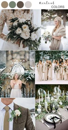 Wedding Themes Top 5 Winter Wedding Color Ideas to Love - When it comes to the wedding planning part, the first thing couples have to decide is the wedding colors, which helps create an atmosphere and. Elegant Winter Wedding, Winter Wedding Colors, Winter Wedding Decorations, Winter Wedding Inspiration, Winter Weddings, Fairytale Weddings, Rustic Weddings, Romantic Weddings, Wedding Rustic