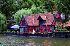 Waterfront house in Tivoli Gardens, Copenhagen, Denmark (by Roy Prasad).