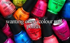 wanting every colour