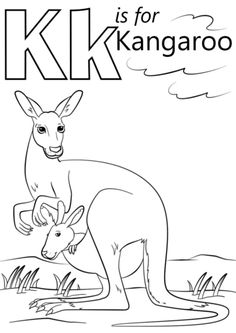 K is for Kangaroo coloring page from Letter K category. Select from 26388 printable crafts of cartoons, nature, animals, Bible and many more.
