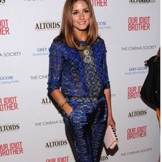 Olivia Palermo of course takes lace to another level with this cobalt blue lace pant suit. Go to sheathbeneath.com to check out great ideas for layering with camis and to see how the face of Sheath Beneath, Miss Universe Australia wears them! #sheathbeneath #camis #slips