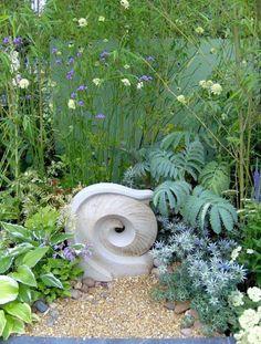 Ceramics{high-fired stoneware} Garden Or Yard / Outside and Outdoor sculpture by artist Dennis Kilgallon titled: 'Wave (ceramic High Fired stone ware Yard/garden statues/sculptures)'
