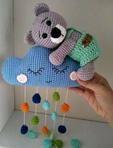 Animal Knitting Patterns, Crochet Toys Patterns, Amigurumi Patterns, Stuffed Toys Patterns, Baby Knitting, Crochet Baby, Step By Step Crochet, Crochet Wall Hangings, Nursery Accessories
