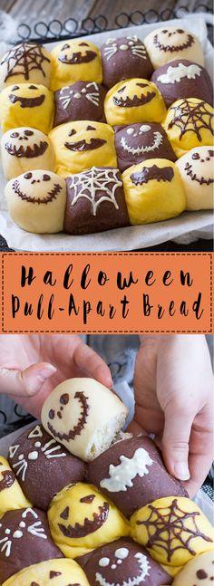 Halloween Pull-Apart Bread | Chopstick Chronicles