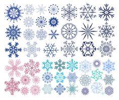 Vector Graphics | Vector Graphics Decorative Snowflakes | Download Free Vectors graphic ...
