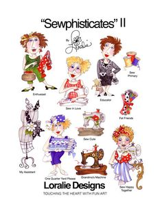 Sewphisticates II Embroidery Design Collection  by loraliedesigns
