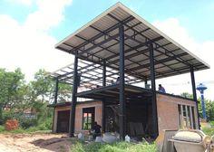 ตัวอย่าง บ้านโครงสร้างเหล็ก H Beam