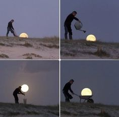 Photo shoots with the moon