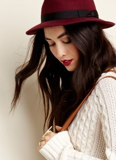 Wool fedora with a band around the top. Equal parts versatile and cool      #streetstyle