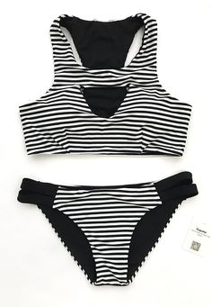 New arrivals here, hot girls! Catch the modern vibe. High quality at only $21.99 & short free shipping time! It's up to you to choose best stripe pattern to match beach style. Find your favorite style at Cupshe.com !