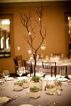 Reminiscent of what we did for wedding ceremony decor, still love this.
