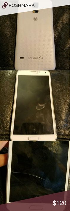 Samsung Galaxy S5 AT&T unlocked ~used We upgraded to the S7 ~ this phone does work and comes with a charging cable and wall charger ~it does have a superficial Crack in the screen but does not affect the use of the phone. Has been been reset to factory settings and is ready for a new owner. This is an AT&T only Samsung Galaxy S5 so please know that before you buy. NO trades or Low ball offers. Thank you. Samsung Other