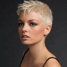 10 Super Short Hair Ideas on Pretty Ladies: #8. Very Short