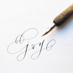 The way it is written brings me joy. It is expressed beautifully. Doodle Lettering, Script Lettering, Lettering Styles, Brush Lettering, Calligraphy Alphabet, Calligraphy Fonts, Caligraphy, Modern Calligraphy, Gouache