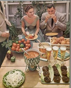 one fashionable barbecue of the 50's