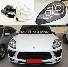 38.00$  Watch now - https://alitems.com/g/1e8d114494b01f4c715516525dc3e8/?i=5&ulp=https%3A%2F%2Fwww.aliexpress.com%2Fitem%2FFor-Porsche-Macan-2014-2015-Excellent-Quality-CCFL-Angel-Eyes-kit-Ultrabright-headlight-illumination-angel-eyes%2F32303562054.html - For Porsche Macan 2014 2015 Excellent Quality CCFL Angel Eyes kit Ultrabright headlight illumination angel eyes kit Halo Ring