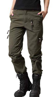 395893c90 chouyatou Women's Military Straight Fit Stylish Combat Cargo Slacks Pants  at Amazon Women's Clothing store: