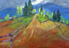 Miroslav Bucher olej 70x100Portret zeme-Karpaty1 Miro, Painting, Painting Art, Paintings, Paint, Draw