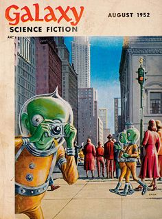 Illustration d'Ed Emsh (Ed Emshwiller), Galaxy Science fiction , août 1952, coll. Agence martienne.